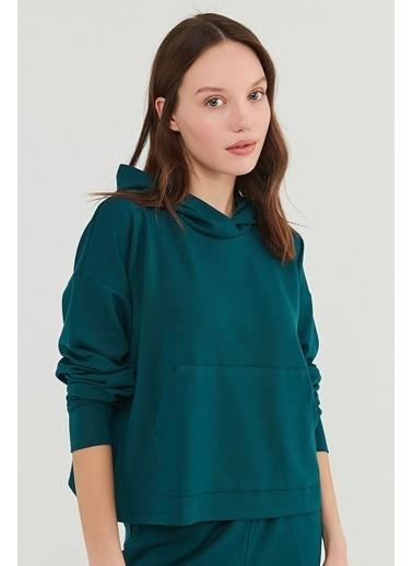 Penti Petrol Yeşili Cupro Sweatshirt Yeşil